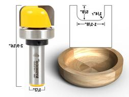 "1-1/8"" Diameter Bowl & Tray Template Router Bit - 1/2"" Shank"