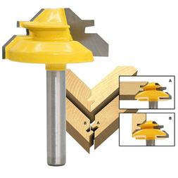 """1/4"""" * 1-3/8"""" Woodworking Plywood Router Bit High-End 45-Deg"""
