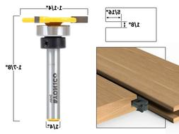 "1/8"" x 5/16"" Top Bearing Slot Cutter Router Bit - 1/4"" Shank"