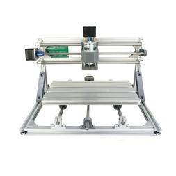 2-in-1 DIY Laser CNC Kit: 30x18x4cm 3 Axis CNC Router + 2500