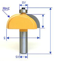 "1 pc 1/2 Shank Convex Cove with 3/4"" Radius 7/8"" High Router"