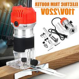 110V 680W Trim Router Edge Wood Clean Cuts Power Woodworking
