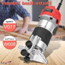 800W 1/4'' Electric Hand Trimmer Wood Laminate Palm Router J
