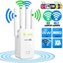 1200Mbps 5G Dual Band Wireless Range Extender WiFi Repeater
