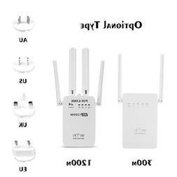 1200Mbps Dual Band 2.4/5G Wireless Range Extender WiFi Route