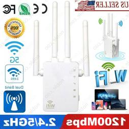 1200Mbps WiFi Range Extender Repeater Signal Booster Wireles