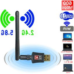 600Mbps Wireless USB Wifi Network Adapter Dongle Dual Band 2