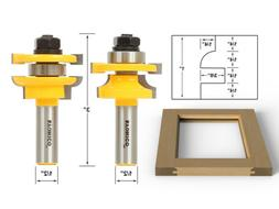 Yonico 12241 Rail and Stile Router Bits with Matched 2 Bit R