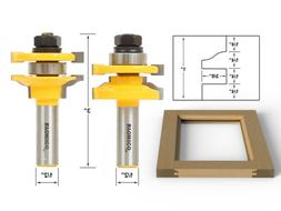 Yonico 12243 Rail and Stile Router Bits with Matched 2 Bit S