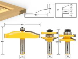 Yonico 12337 Rail and Stile Panel Raiser Router Bit Set with