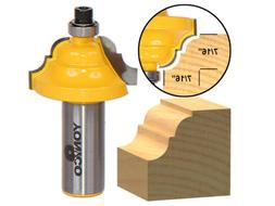 Yonico 13123 Double Roman Ogee Edging Router Bit with Medium