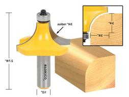 Yonico 13168 Round Over Edging Router Bit with 3/4-Inch Radi