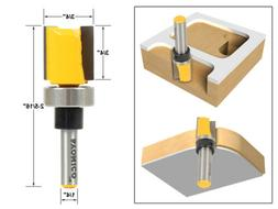 Yonico 14131q Pattern Trim Template Trim Router Bit with 1/4