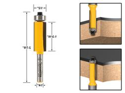 "Yonico 14139q Flush Trim Router Bit, End Bearing with 1/2"" x"