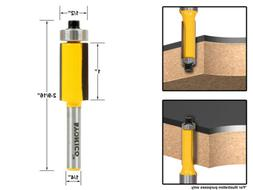 "Yonico 14147q Flush Trim Router Bit End Bearing with 1/4"" Sh"