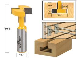 Yonico 14189 T-Slot and T-Track Slotting Router Bit 1/2-Inch