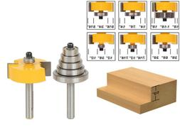 Yonico 14705q Rabbet Router Bit with 6 Bearings Set -1/2-Inc
