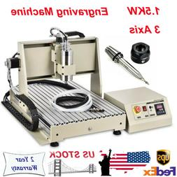 1500W 3 Axis CNC Router Engraver 6040 Machine USB For Wood p