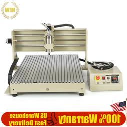 1500W 4 Axis CNC Router Engraving Machine+USB Control Box fo