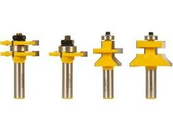 Yonico 15423 4 Bit Tongue and Groove and V-notch Router Bit