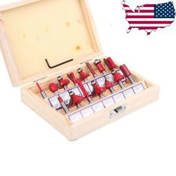 """15pc Router Bit Set 1/4"""" Shank Wood Working Power Tools Shop"""