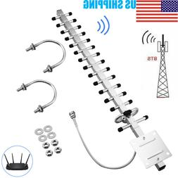 2.4GHz 25dBi RP-SMA Directional Wireless Yagi Antenna WiFi F