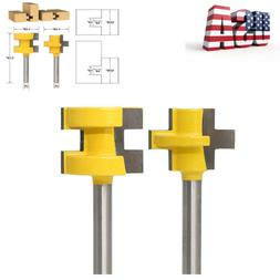 """2 Bit Tongue And Groove Router Bit Set 1/4"""" Shank Woodworkin"""