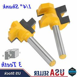 2 pcs Tongue and Groove Router Bit Set Woodworking Milling C