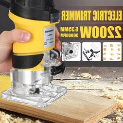 2200W 1/4'' 30000RPM Electric Hand Trimmer Wood Laminate Pal