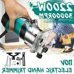 """2200W 1/4"""" Electric Hand Trimmer Wood Working Laminate Palm"""