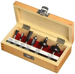 Craftsman 26004 6pc Carbide Tipped Assorted Router Bit Set 1