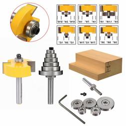 """2 IN 1 1/2"""" Height with 6 Bearings Rabbet Router Bit & Beari"""