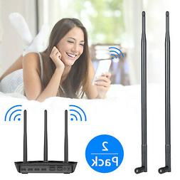 2x 9dBi RP-SMA Dual Band 2.4GHz 5GHz High Gain WiFi Router W