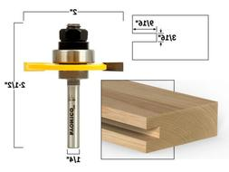 "3/16"" Slotting Cutter Router Bit Assembly - 1/4"" Shank - Yon"