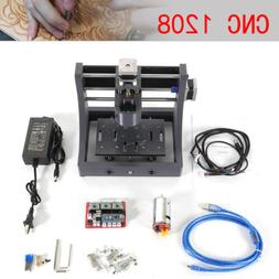 3 Axis 1208 CNC Router Mini Mill Wood Carving PCB Milling En