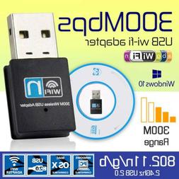 300 Mbps USB Wireless WiFi LAN Network Receiver Card Adapter