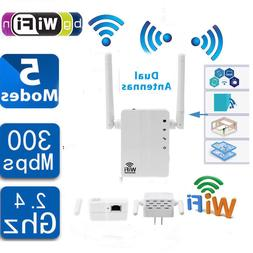 300 Mbps WiFi Signal Range Booster Network Extender Amplifie