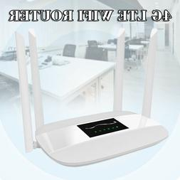 Unlocked 4G LTE CPE Wifi Router 300Mbps with 4 Antennas & SI
