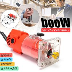 300W 30000RPM  1/4'' Electric Hand Trimmer Wood Laminator Ro