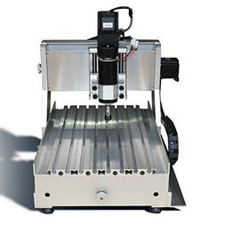 TEN-HIGH 3020 CNC router engraver with 4th axis A axis, Engr