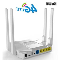 KuWFi 3G/4G LTE Wifi Router 1200Mbps OpenWrt Home Wireless R