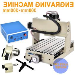 4 AXIS 3020 CNC Router Wood Metal Cutting Engraver 3D Drilli