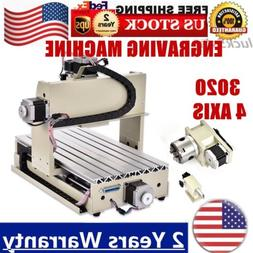 4 AXIS 3020 Router Wood & Metal Cutting Engraver 3D Drilling