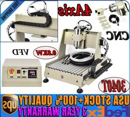 4 AXIS 3040T CNC Router Engraving Drilling Machine Wood Cutt
