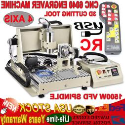 4-Axis 6040 CNC Router 1500W Engraver Engraving Milling Mach