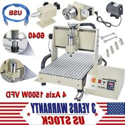 4 Axis CNC 6040T Router Engraver USB 3D Engraving Drilling M