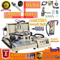 4 AXIS USB 1.5KW CNC 6040Z Router Engraver Milling/Drilling