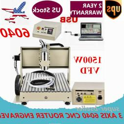 4 Axis USB CNC6040T Router Engraver Engraving Milling Drilli