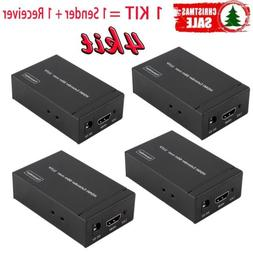 100 KIT HDMI Network Internet Router Sender Receiver Set Signal Booster LOT MY