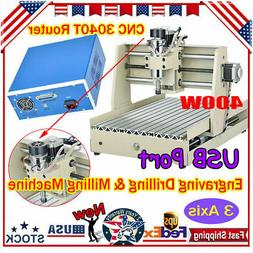 400W 3 Axis 3040 USB CNC Router Engraving Drill Machine Carv